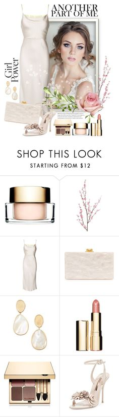"""""""Monochrome"""" by ela79 ❤ liked on Polyvore featuring Clarins, Pier 1 Imports, Jason Wu, Edie Parker, Marco Bicego and Sophia Webster"""