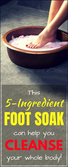 This homemade FOOT SOAK can help you cleanse your whole body. This homemade FOOT SOAK can help you cleanse your whole body. Health And Fitness Tips, Health And Beauty, Health And Wellness, Natural Cures, Natural Healing, Natural Beauty, Homemade Foot Soaks, Detox Your Body, Body Cleanse