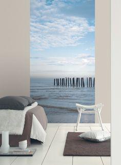 Prenez le large : Papier peint panoramique  de la collection Frégate de Casadéco