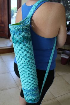 Yoga mat bag by CrochetaStory on Etsy