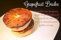 One Sentence Recipe: Grapefruit BruleeLeave a replyOne Sentence Recipe: Grapefruit Brulee