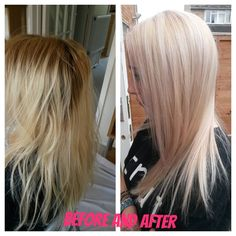 Colour change - Before and After