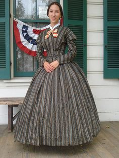 1860s Civil War Victorian Dress Reenactment by reinedecoudre, $250.00