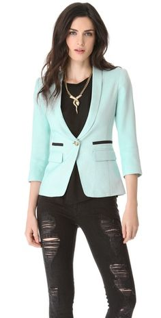 SMYTHE One Button Shawl Blazer | SHOPBOP