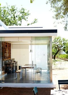 I want our dining room to have an oversized glass wall/door similar to this.