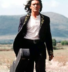 "Antonio Banderas in ""Once upon time in Mexico"",a 2003 action film written, produced, edited, cinematographied, scored, and directed by Robert Rodriguez"