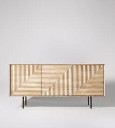 Seville Sideboard in Mango & Charcoal. Sideboards Living Room, Sideboard, Interior Furniture, Furniture, Furniture Details, Contemporary Furniture, Wooden Sideboard, Home Decor Furniture, Sideboard Designs