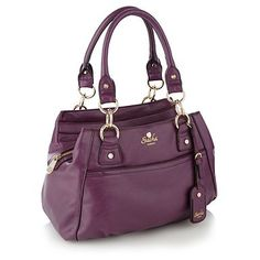 Purple triple compartment shoulder bag - Shoulder bags - Handbags & purses - Women -