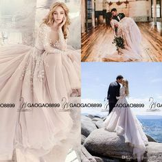 Long Sleeve Rococo Bridal Gown Beaded And Embroidered Bodice Hayley Paige 2016 Tulle Skirt Beach Party Wedding Dresses Wedding Gowns Cheap Bride Gown From Gaogao8899, $166.84| Dhgate.Com