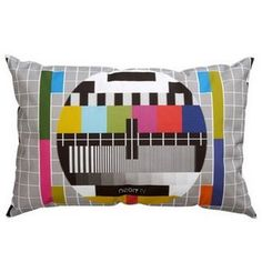 test card cushion by neon living Pillow Set, Throw Pillows, Living Tv, Living Room, Creative Suite, Test Card, Project, Neon