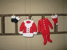 Santa's Laundry Clothesline Ornament. $9.95, via Etsy.