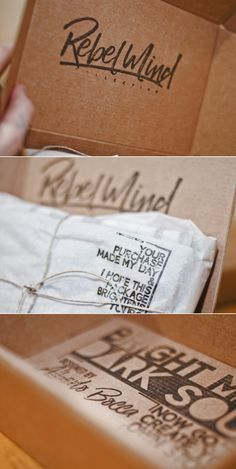 Custom stamped packaging design | Rebel Mind Co. Box on Packaging of the World