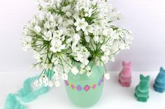 Geometric Painted Flower Vase | AllFreeHolidayCrafts.com
