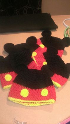 Crochet Mickey Hat - For my special little man & his friends