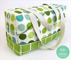 Dots & Blocks Modern Duffle free tutorial!