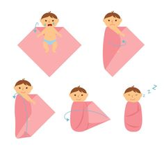 Anleitung zum Pucken mit einem Moltontuch Baby Care how to take care of a baby Baby Kind, Baby Love, Baby Baby, Baby Ariel, Baby Swaddle Blankets, Baby Ducks, Chiffon, Baby Care Tips, Presents For Kids