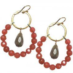 Jasper and Labradorite Loop Earrings by Maggie Goen