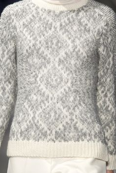 Sita Murt F/W '14-15 | details, front and back of jacquard knitting