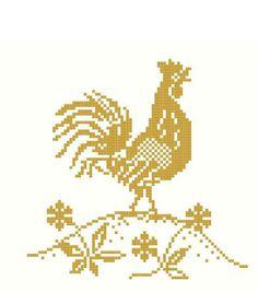 Golden Rooster cross stitch pattern or kit   www.blackphoebedesigns.com