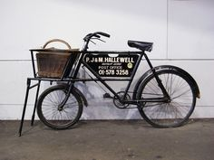old butchers bicycle with basket - Google Search
