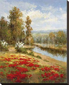 Poppy Vista I Lærredstryk på blindramme by Hulsey at Art.com