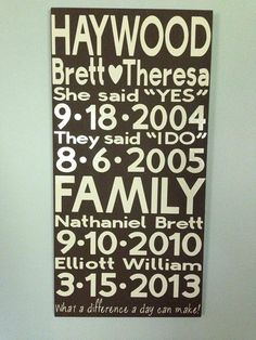 Personalized Family Sign, Wood and Vinyl Sign, Wall Hanging