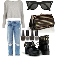 """A little bit of rock"" by citygirlsnyc on Polyvore"