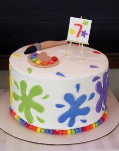 Tartas de cumpleaños - birthday Cake - Amazing rainbow art party cake! See more party ideas at CatchMyParty.com!