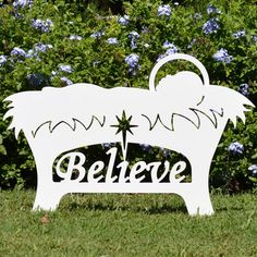 Outdoor Nativity Sets for Sale | Believe Holy Family Outdoor Nativity Set - Manger