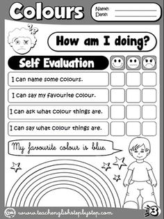 Colours - Self Evaluation (B&W version)