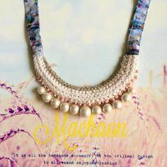 コットンパールデザイン珊瑚ネックレス