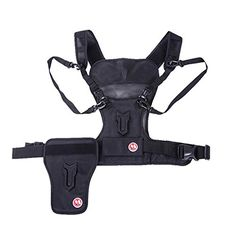 Micnova MQMSP01 Multi Camera Carrying Chest Harness System Vest with Side Holster for Canon 6D 600D 5D2 5D3 Nikon D90 Sony A7S A7R A7S2 Panasonic Olympus DSLR Cameras *** Learn more by visiting the image link.Note:It is affiliate link to Amazon. #likeforlike Multi Camera, Photo Bag, Photo Accessories, Camera Accessories, Gopro, Sony A7s, Canon 6d, Nikon D90, Point And Shoot Camera