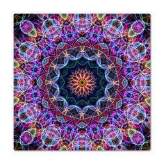 Purple Lotus Kaleidoscope Queen Duvet -- Gorgeous! From Zandiepants! -- #duvet #zandiepants #lotus