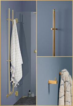 INR Linc 21 towel dryer - Brass