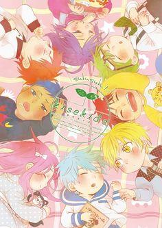 Akashi Seijuurou, Aomine Daiki, Kagami Taiga, Kise Ryouta, Kuroko Tetsuya, Midorima Shintarou, Momoi Satsuki, Murasakibara Atsushi   Kuroko no Basket   Anime & Manga