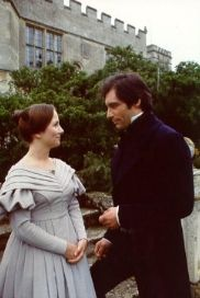 Timothy Dalton with Zelah Clarke in the BBC 1983 adaptation of Jane Eyre.