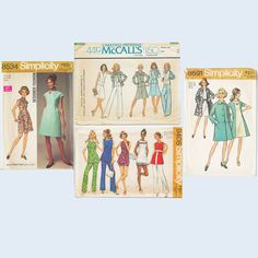 Vintage 4 Patterns Sz 14 1970s Dress Pants Coat Jacket McCall's Simplicity. $9.00, via Etsy.