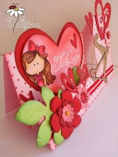 Diy Cards And Envelopes, 3d Cards, Valentine Day Crafts, Happy Valentines Day, Diy And Crafts, Crafts For Kids, Pop Up Box Cards, Step Cards, Scrapbook Cards