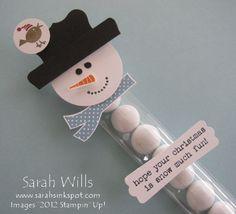 December 13th, 2012 sarahsinkspot: Punch Art Snowman Treat complete with Snow Balls…snowmantreat1