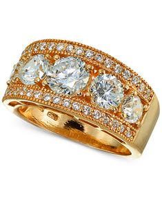 Image 1 of Giani Bernini Cubic Zirconia Ring in 18k Rose Gold-Plated Sterling Silver, Created for Macy's