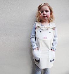 Spring Lamb Girls Play Dress - easter egg hunt