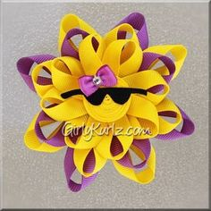 PURPLE Sunshine Loopy Hair Bow