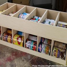How To Build A Canned Food Organizer And Dispenser - Unique DIY Ideas