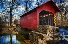 Buy Roddy Road Covered Bridge by Joan Carroll as a matted print, mounted print, canvas print, framed print, or art prints Art Prints For Sale, Art For Sale, Fine Art Prints, Old Wagons, Country Barns, Covered Bridges, Artist At Work, Fine Art America, Original Artwork