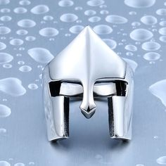 Dropshipping Jewelry One Piece Sale New Cool Rings For Men Stainless Steel Spartacus Mask Movie Ring High Quality BR8-338