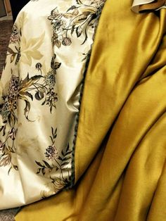 Hand painted fabric via Terry Dresbach, costume designer of Outlander on Starz, on Twitter