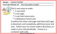 Lemon Sorbet recipes