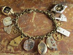 Steampunk Bracelet  In the Works  Steampunk watch by steampunkjunq, $69.95