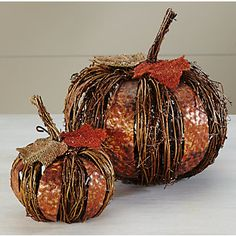 Grapevine Pumpkins from Through the Country Door®