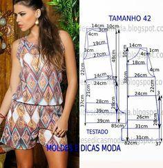 Moldes Moda por Medida: MOLDE DE MACACÃO FÁCIL -14